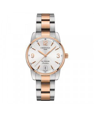 Szwajcarski, klasyczny zegarek damski Certina Podium Lady 33 mm C034.210.22.037.00 (C0342102203700)