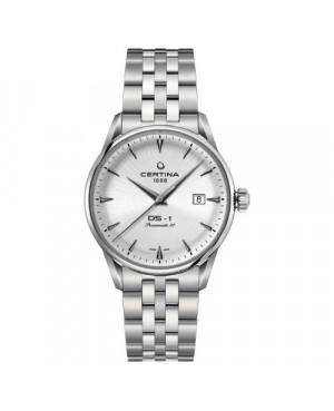 Szwajcarski, klasyczny zegarek męski Certina DS-1 Powermatic 80 C029.807.11.031.00 (C0298071103100)