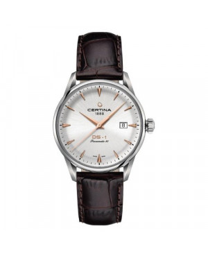 Szwajcarski, klasyczny zegarek męski Certina DS-1 Powermatic 80 C029.807.16.031.01 (C0298071603101)