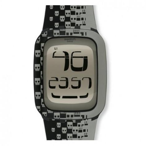 Szwajcarski, modowy zegarek męski SWATCH Touch SURB101 TOUCH SKULL
