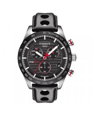 Szwajcarski, sportowy zegarek męski Tissot PRS 516 Chronograph T100.417.16.051.00 (T1004171605100) na pasku