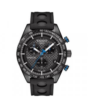 Szwajcarski, sportowy zegarek męski Tissot PRS 516 Chronograph T100.417.37.201.00 (T1004173720100) pasek kauczukowy