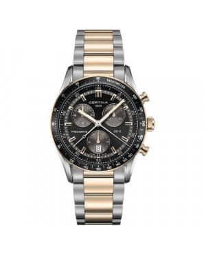 Szwajcarski, sportowy zegarek męski Certina DS-2 Chronograph 1/100 sec C024.447.11.051.00 (C0244472205100)