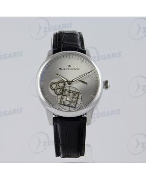 MAURICE LACROIX Masterpiece MP7158-SS001-901 mechanizm manufakturowy zegarek z szkłem szafirowym