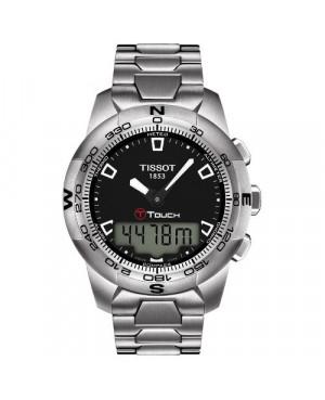 Szwajcarski, sportowy zegarek męski TISSOT T-TOUCH II T047.420.11.051.00 (T0474201105100) na bransolecie