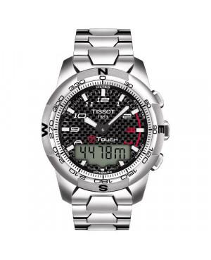 Szwajcarski, sportowy zegarek męski TISSOT T-TOUCH II T047.420.44.207.00 (T0474204420700) tytanowy na bransolecie