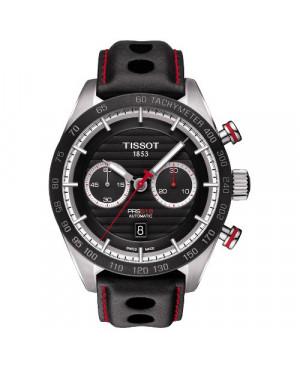 Szwajcarski, sportowy zegarek  męski TISSOT PRS 516 AUTOMATIC CHRONOGRAPH T100.427.16.051.00 (T1004271605100) na pasku