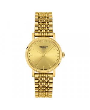 Szwajcarski, klasyczny zegarek damski Tissot Everytime Small T109.210.33.021.00 (T1092103302100) na bransolecie