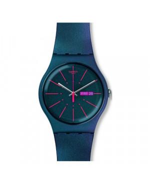 Szwajcarski, modowy zegarek damski SWATCH Originals New Gent SUON708 NEW GENTLEMAN