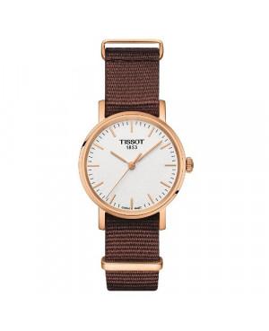 Szwajcarski, klasyczny zegarek damski TISSOT EVERYTIME SMALL T109.210.37.031.00 (T1092103703100) na pasku typu NATO