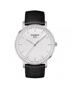 Szwajcarski, klasyczny zegarek męski TISSOT EVERYTIME LARGE T109.610.16.031.00 (T1096101603100) na czarnym pasku
