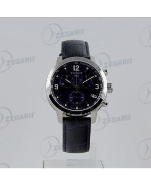 Szwajcarski, sportowy zegarek męski Tissot PRC 200 Chronograph T055.417.16.047.00 (T0554171604700) niebieska tarcza