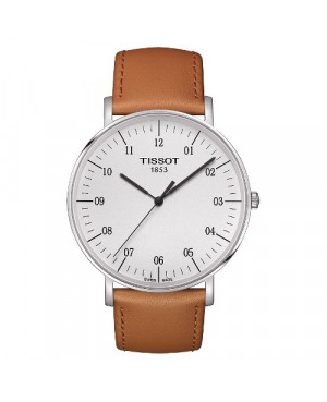 Szwajcarski, klasyczny zegarek męski TISSOT EVERYTIME LARGE T109.610.16.037.00 (T1096101603700) na pasku