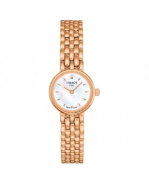 Szwajcarski, elegancki zegarek damski TISSOT LOVELY T058.009.33.111.00 (T0580093311100) na bransolecie