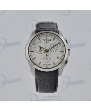 Szwajcarski zegarek męski Tissot Couturier Quartz GMT T035.439.16.031.00 Zegaris Rzeszów