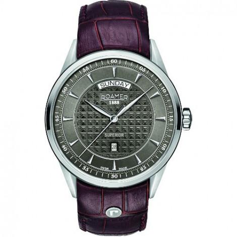 Szwajcarski zegarek męski ROAMER Superior Day Date 508293 41 05 05
