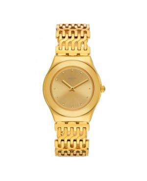 Szwajcarski, modowy zegarek damski SWATCH Irony Medium YLG132G TRICODOR