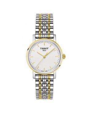 Szwajcarski, klasyczny zegarek damski Tissot EVERYTIME SMALL T109.210.22.031.00 (T1092102203100) na bransolecie