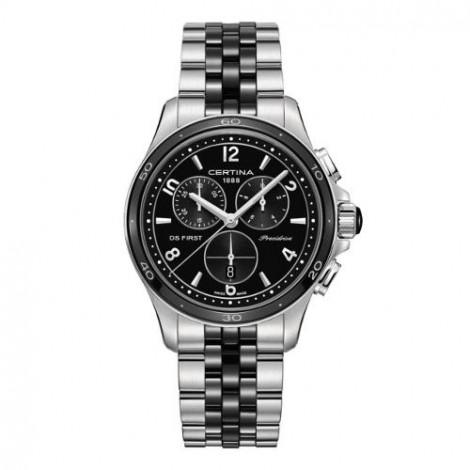 Szwajcarski, sportowy zegarek damski Certina DS First Lady Chronograph C030.217.11.057.00 (C0302171105700)