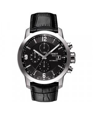 Szwajcarski, sportowy zegarek męski Tissot PRC 200 T055.427.16.057.00 (T0554271605700) na skórzanym pasku