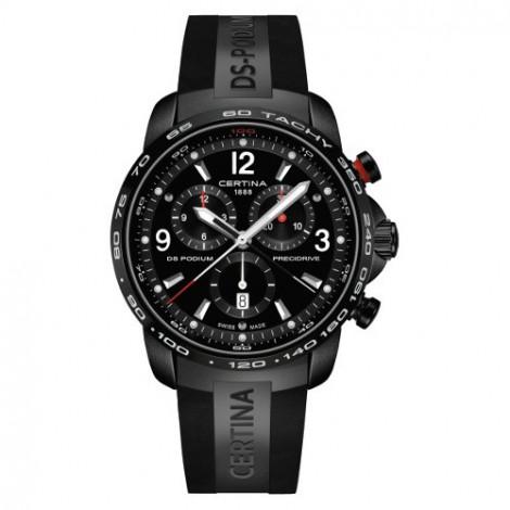 Szwajcarski, sportowy zegarek męski Certina DS Podium Chronograph 1/100 sec C001.647.17.057.00 (C0016471705700)