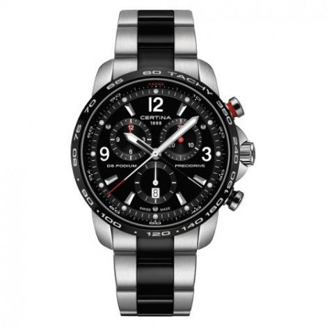 Szwajcarski, sportowy zegarek męski Certina DS Podium Chronograph 1/100 sec C001.647.22.057.00 (C0016472205700)