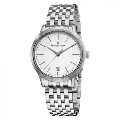 Szwajcarski klasyczny zegarek męski MAURICE LACROIX Les Classiques Date LC1117-SS002-130 (LC1117SS002130)