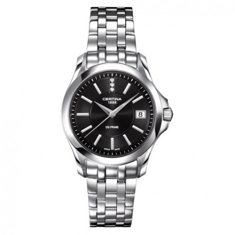 Szwajcarski, klasyczny zegarek damski Certina DS Prime Lady Round C004.210.11.056.00 (C0042101105600)