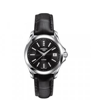 Szwajcarski, klasyczny zegarek damski Certina DS Prime Lady Round C004.210.16.056.00 (C0042101605600)