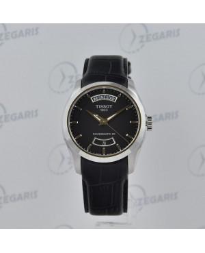 Szwajcarski zegarek męski TISSOT Couturier Powermatic 80 T035.407.16.051.02 (T0354071605102) elegancki