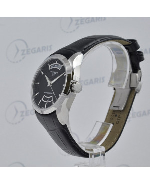Szwajcarski zegarek męski Tissot Couturier Powermatic 80 T035.407.16.051.02 (T0354071605102) szkło szafirowe