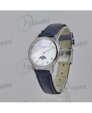 Zegarek FREDERIQUE CONSTANT Slimline FC-206MPWD1S6 Mechanizm kwarcowy z funkcją faz księżyca