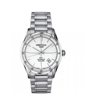 Szwajcarski, klasyczny zegarek męski Certina DS-1 Index C006.407.11.031.00 (C0064071103100)