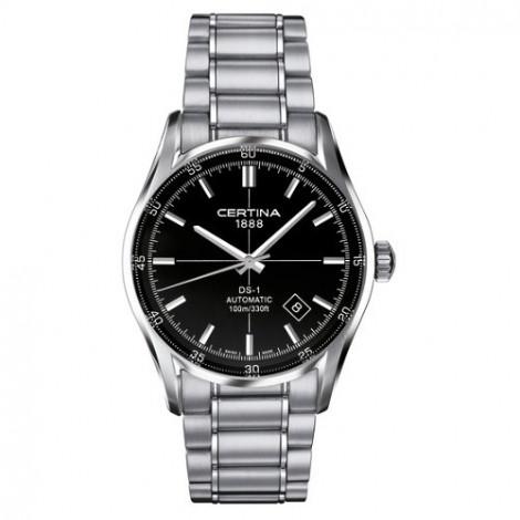 Szwajcarski, klasyczny zegarek męski Certina DS-1 Index C006.407.11.051.00 (C0064071105100)