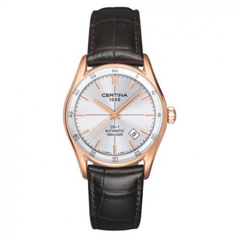 Szwajcarski, klasyczny zegarek męski Certina DS-1 Index C006.407.36.031.00 (C0064073603100)