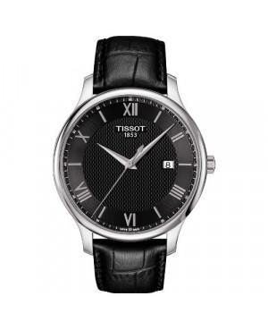 Szwajcarski, klasyczny zegarek męski Tissot Tradition Gent T063.610.16.058.00 (T0636101605800)