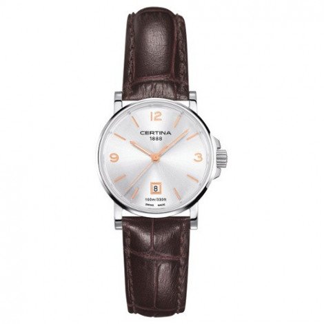 Szwajcarski, klasyczny zegarek damski Certina DS Caimano Lady C017.210.16.037.01 (C0172101603701)
