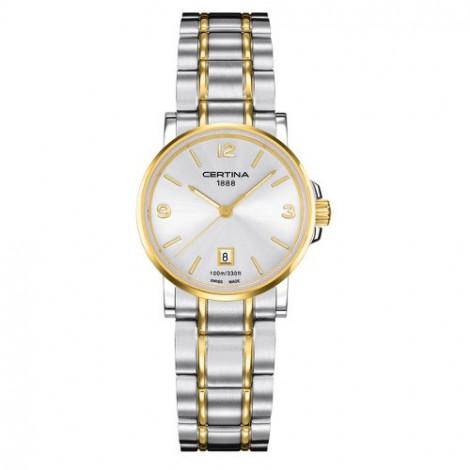 Szwajcarski, klasyczny zegarek damski Certina DS Caimano Lady C017.210.22.037.00 (C0172102203700)