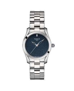 Szwajcarski, elegancki zegarek damski TISSOT T-WAVE T112.210.11.041.00 (T1122101104100) na bransolecie