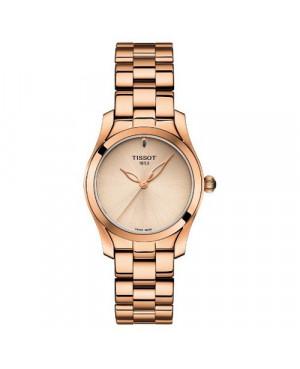 Szwajcarski, elegancki zegarek damski TISSOT T-WAVE T112.210.33.451.00 (T1122103345100) na bransolecie