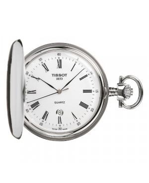 Szwajcarski, klasyczny zegarek kieszonkowy, TISSOT SAVONNETTES T83.6.553.13 (T83655313) mechanizm kwarcowy