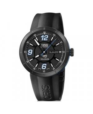 Szwajcarski, sportowy zegarek męski ORIS TT1 Williams F1 Team Day Date 01 735 7651 4765-07 4 25 06 B