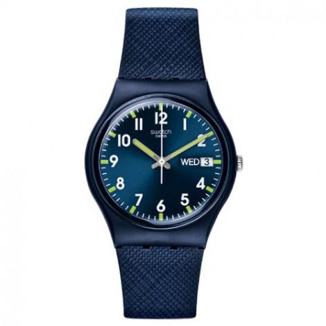 Szwajcarski, modowy zegarek SWATCH Originals New Gent GN718 SIR BLUE