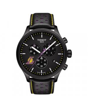 Szwajcarski sportowy zegarek męski Tissot Chrono XL NBA Los Angeles Lakers Special Edition T116.617.36.051.03 (T1166173605103)