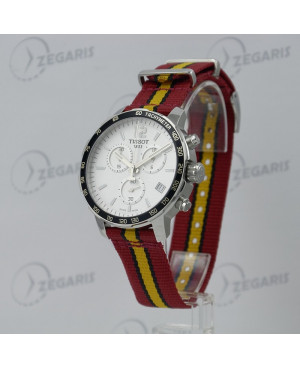 Szwajcarski zegarek męski Tissot Quickster Chronograph NBA Miami Heat Special Edition T095.417.17.037.08 (T0954171703708)