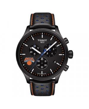 Szwajcarski, sportowy zegarek męski Tissot Chrono XL NBA New York Knicks Special Edition T116.617.36.051.05 (T1166173605105)