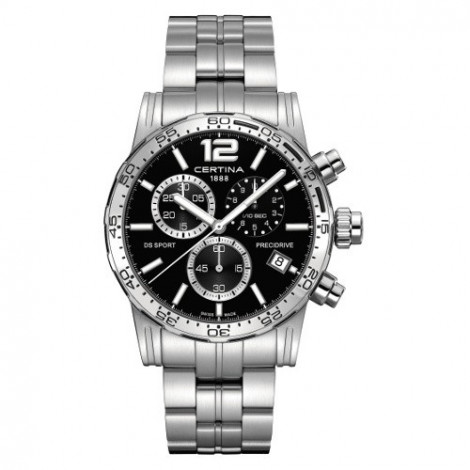 Szwajcarski, sportowy zegarek męski Certina DS Sport Chronograph 1/10 sec C027.417.11.057.00 (C0274171105700)